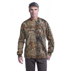 Russell Outdoors™ Realtree   Long Sleeve Explorer 100% Cotton T-Shirt with Pocket. S020R