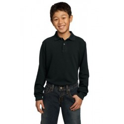 Port Authority   Youth Long Sleeve Pique Knit Polo.  Y320
