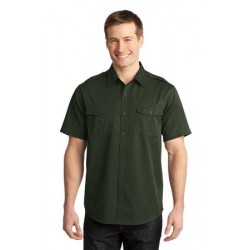 Port Authority   Stain-Resistant Short Sleeve Twill Shirt. S648