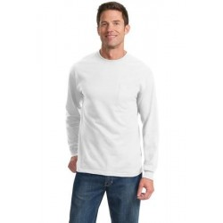Port & Company   Tall Long Sleeve Essential T-Shirt with Pocket. PC61LSPT