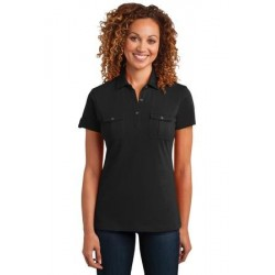 District Made   Ladies Double Pocket Polo. DM433