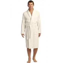 Port Authority   Checkered Terry Shawl Collar Robe. R103