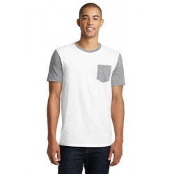 District   Young Mens Very Important Tee   with Contrast Sleeves and Pocket. DT6000SP