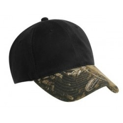 Port Authority   Pro Camouflage Series Cotton Waxed Cap with Camouflage Brim.  C877